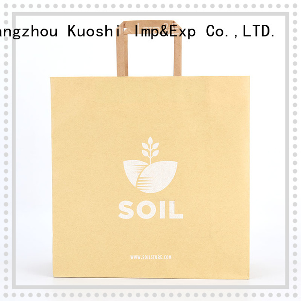 KUOSHI shopping wide paper bags supply for food packaging