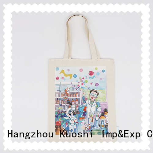 KUOSHI printing cotton carry bags online manufacturers for daily activities