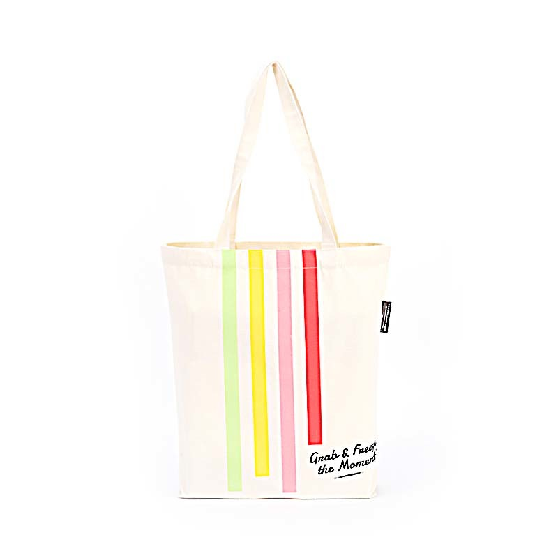 Recycled Cotton Canvas Tote Bag Custom Printed Canvas Bags