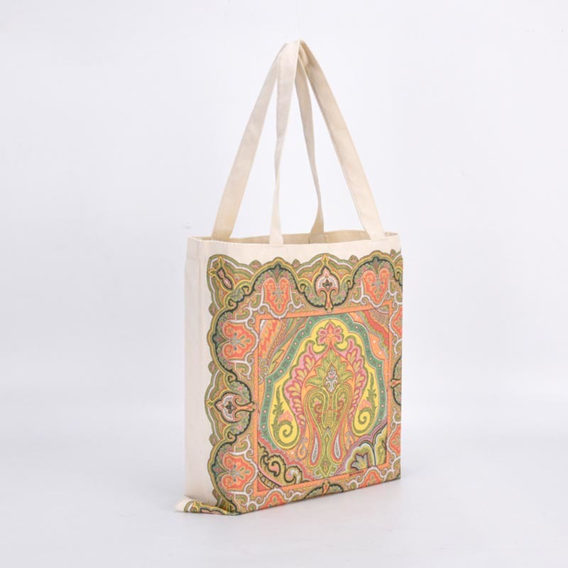 Heavy Canvas Tote Bag with Bottom Reusable Shopping Bags