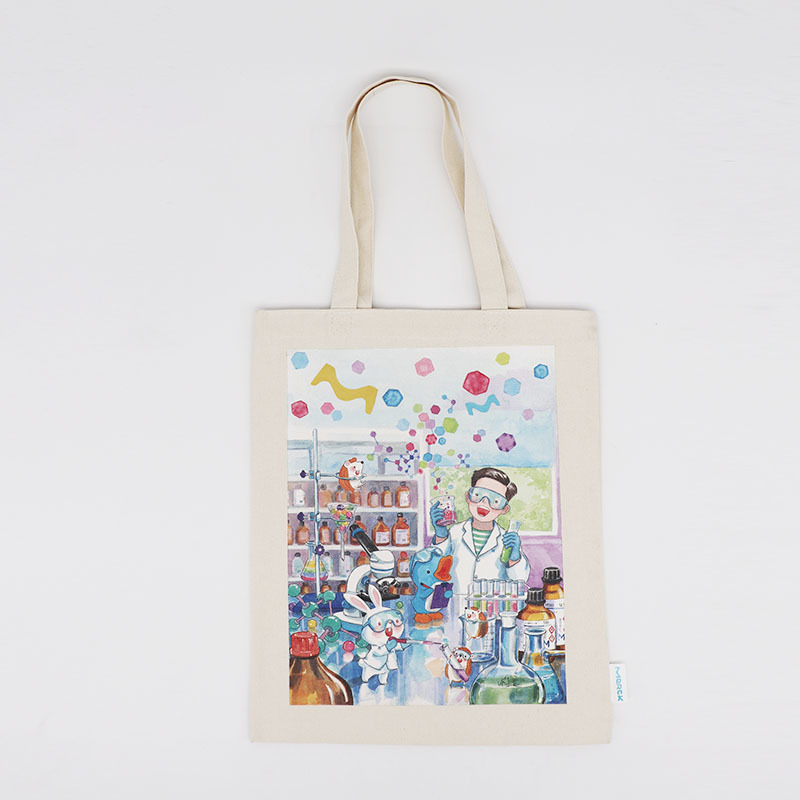 10oz Canvas Tote Bag with Printing White Tote Bag