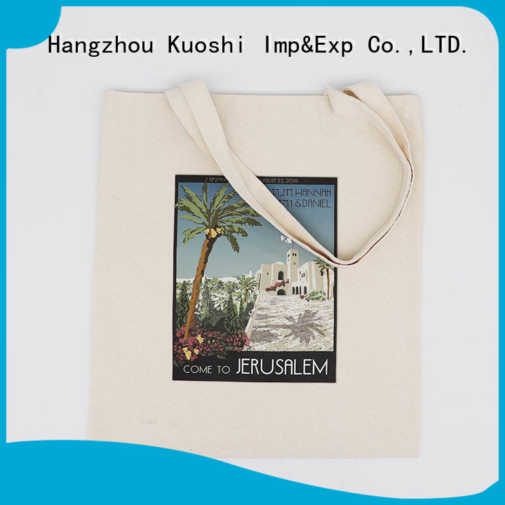 KUOSHI Organic Cotton Bags Wholesale factory for supermarket