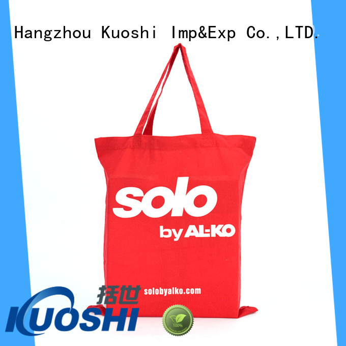 KUOSHI latest large canvas bag factory for park