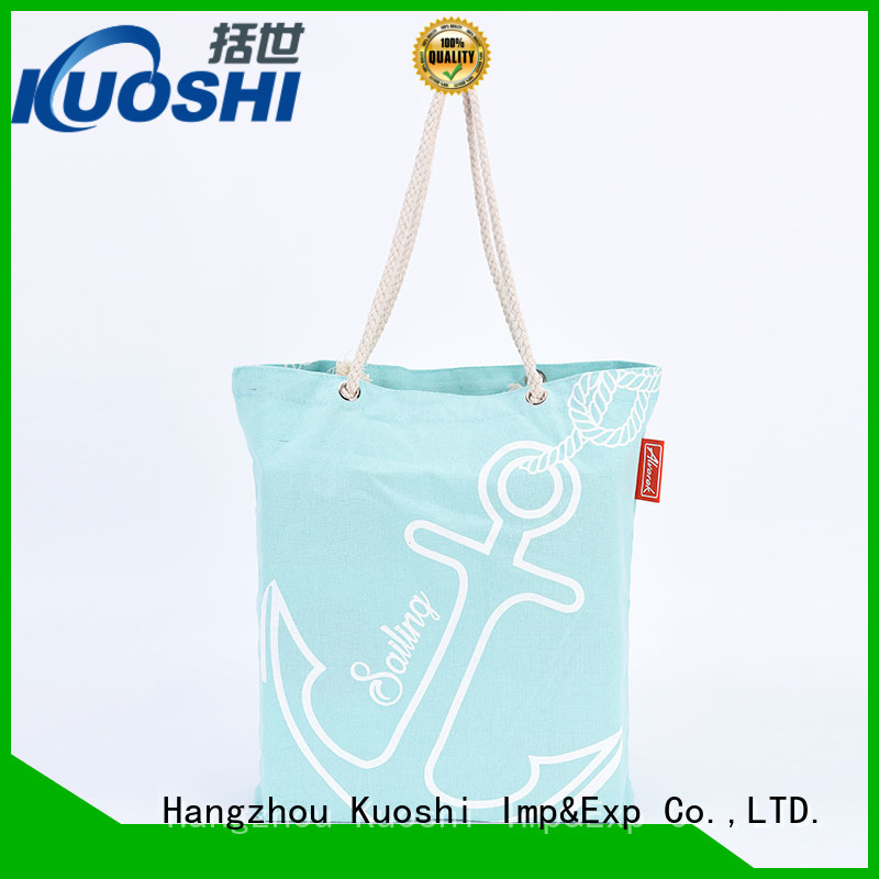 KUOSHI wholesale printed cotton bags suppliers for trade shows