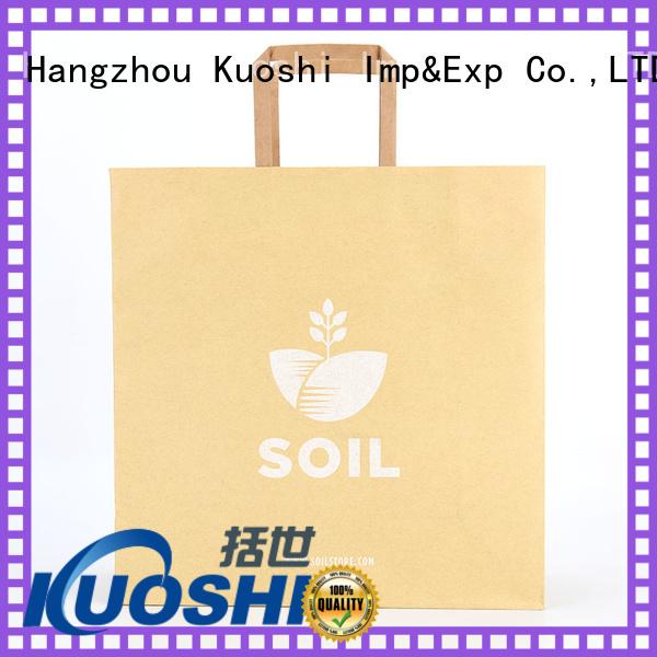 KUOSHI best kraft handle bags wholesale for supermarket