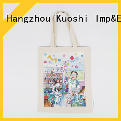 KUOSHI latest cotton canvas drawstring bags factory for events