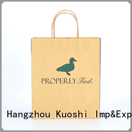 wholesale kraft bags with handles paper suppliers for supermarket