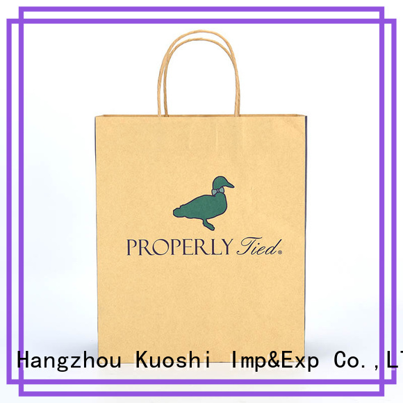 KUOSHI bags paper bag boutique factory for supermarket
