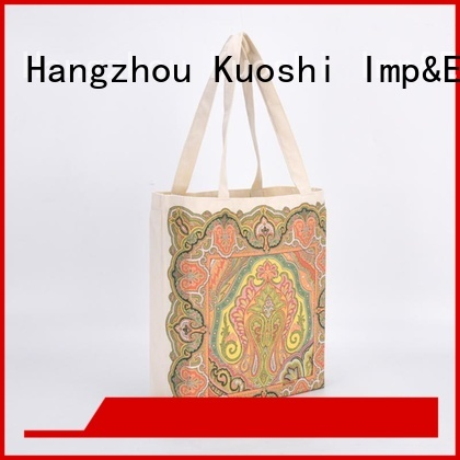 KUOSHI personalized cotton tote bags manufacturers for supermarket