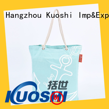KUOSHI bagwith printed cotton shoppers company for grocery shopping