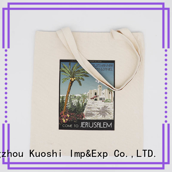 KUOSHI reusable cotton tote bags wholesale supply for park