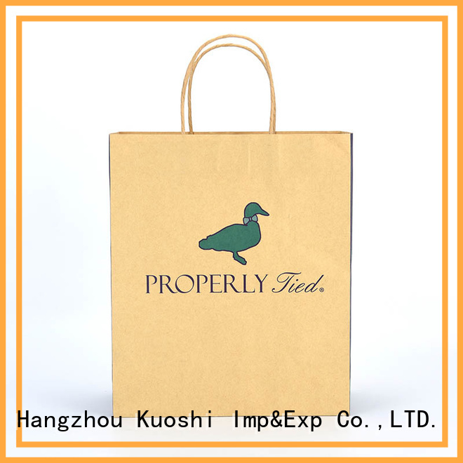 KUOSHI handles recycled paper bags with handles wholesale factory for restaurant
