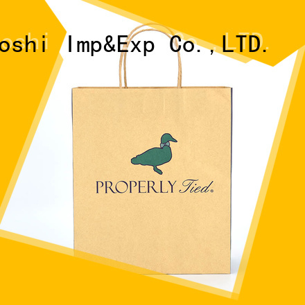 KUOSHI shopping brown paper gift bags for supermarket