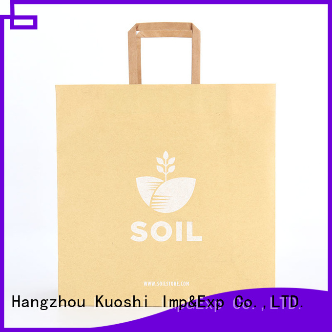 pink paper bags with handles printing supply for supermarket