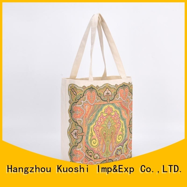 KUOSHI latest black cotton tote bag for business for park