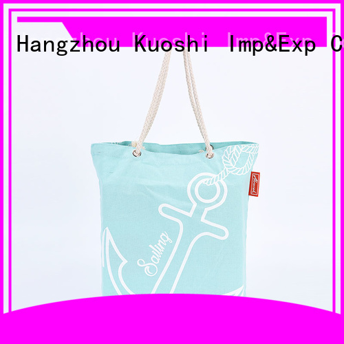 KUOSHI large canvas sack suppliers for beach visit