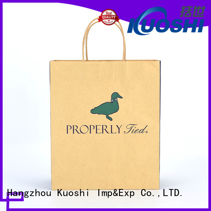 KUOSHI best paper shopping bags wholesale suppliers for vegetables