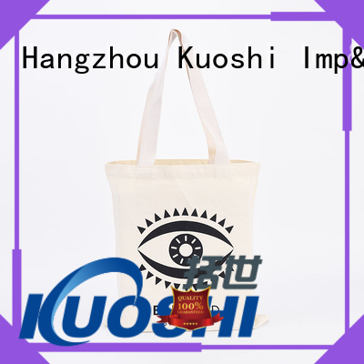 KUOSHI high-quality plain white fabric bags suppliers for grocery shopping