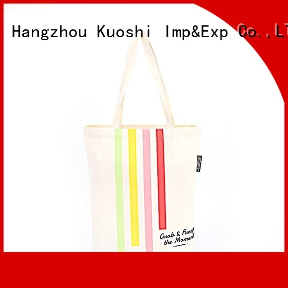 KUOSHI bottom canvas designer tote factory for events