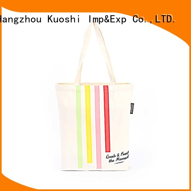 KUOSHI cotton printed canvas tote company for school
