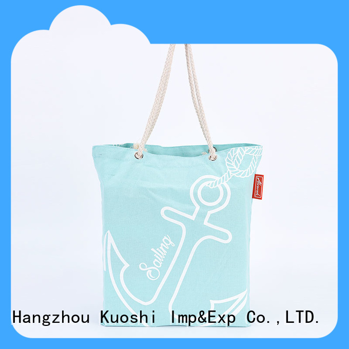 KUOSHI cotton white canvas bag suppliers for trade shows