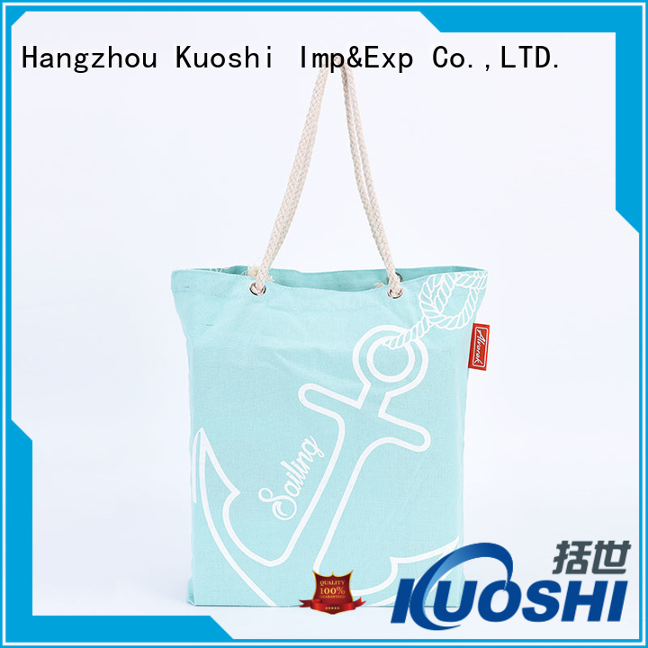 KUOSHI heavy canvas printed shopping bags company for office work