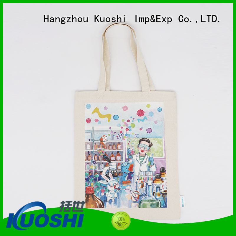 KUOSHI new small cotton drawstring bags factory for park