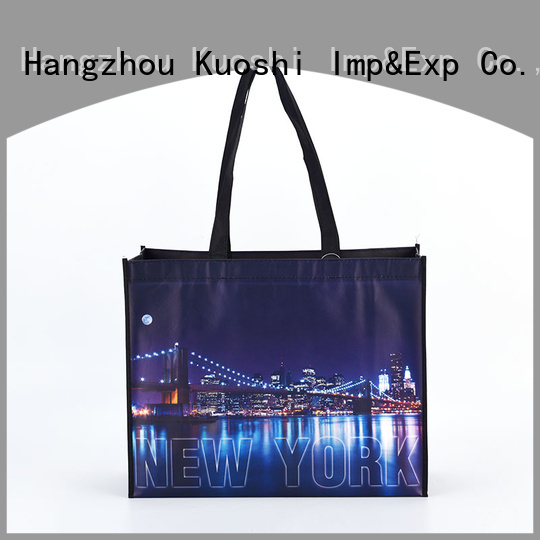KUOSHI non woven bag printing process supply for grocery shopping
