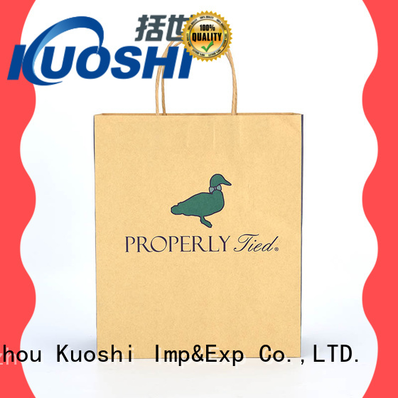 KUOSHI wholesale striped paper bags for supermarket