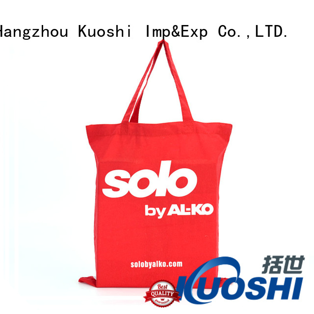 KUOSHI custom long canvas bag supply for shopping