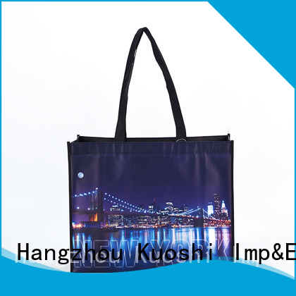 KUOSHI cotton laminated non woven polypropylene bags suppliers for office work