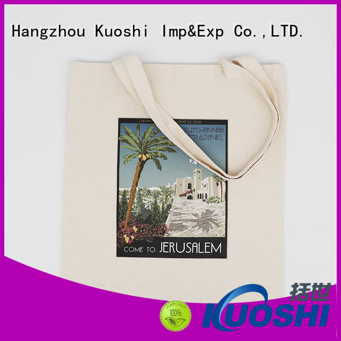 KUOSHI best cotton canvas shopping bags manufacturers for trade shows