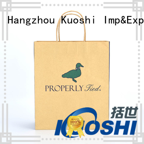 KUOSHI paper grey paper bags for supermarket