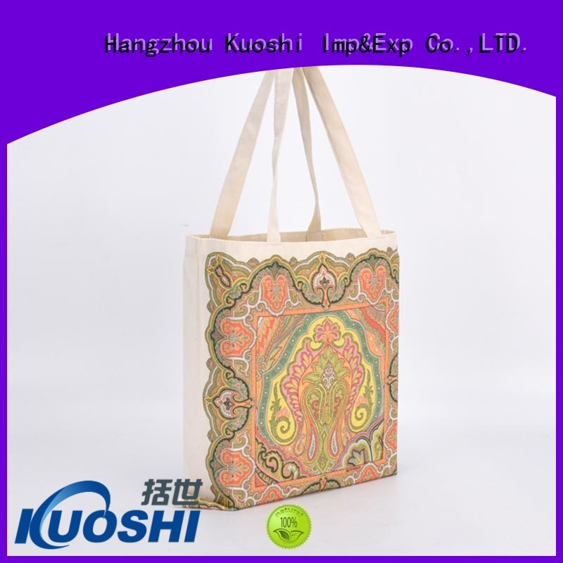 KUOSHI organic plain white canvas bag for business for beach visit