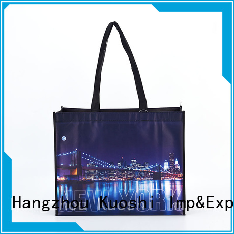 KUOSHI custom printed woven bags manufacturers for grocery shopping