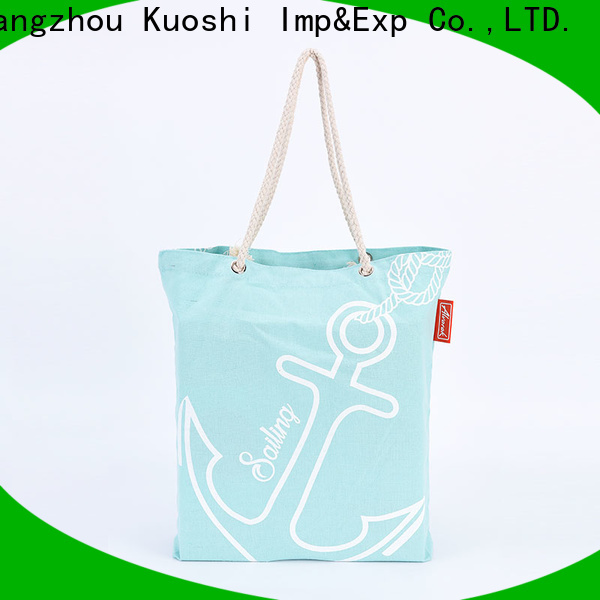 KUOSHI handle canvas bag with print manufacturers for grocery shopping