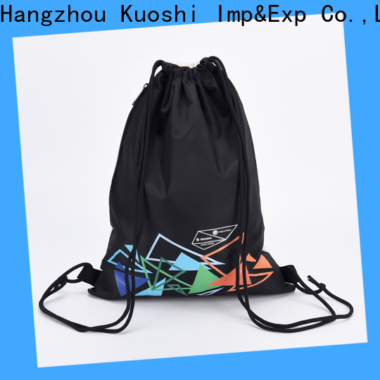 custom quality drawstring backpack recycled factory for school