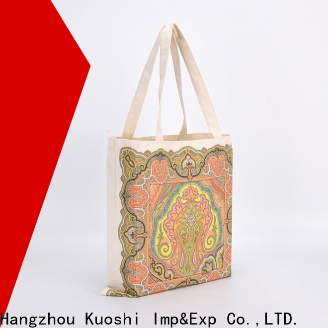 KUOSHI shopping 100 cotton canvas tote bags manufacturers for daily activities