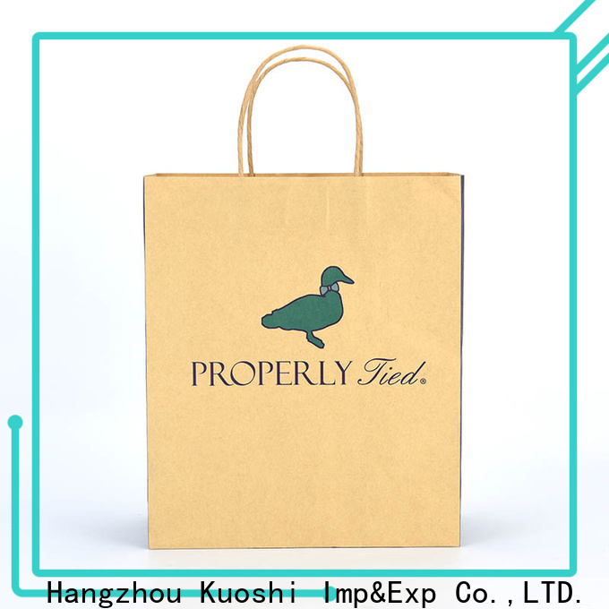 KUOSHI brown brown kraft paper bags with handles company for restaurant