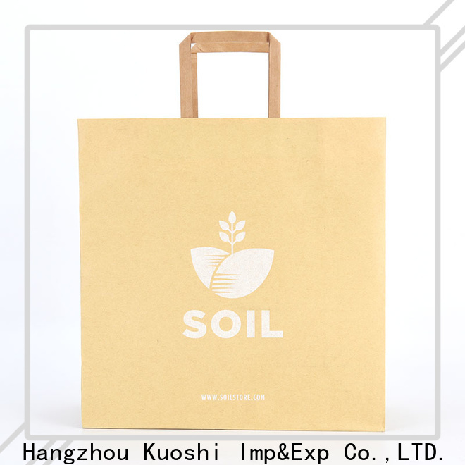KUOSHI brown paper sack suppliers for supermarket