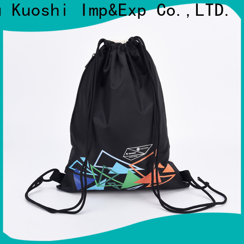 KUOSHI top green drawstring backpack for gym