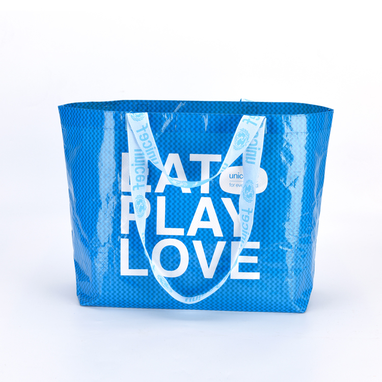 Custom Reusable Custom Promotional Eco Laminated PP Woven Bag