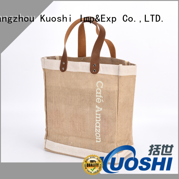 KUOSHI new jute cloth bags manufacturers for supermarket