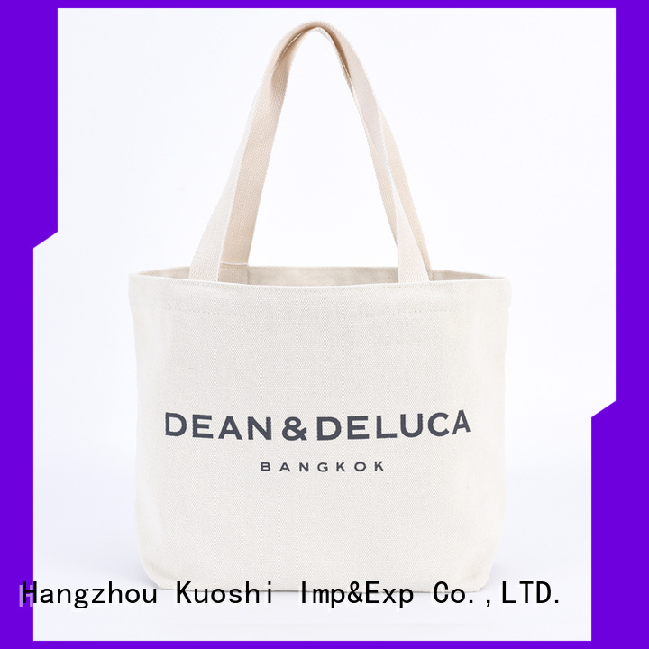 KUOSHI best purple canvas tote bags for shopping