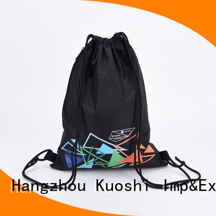 KUOSHI drawstring black drawstring backpack bulk company for gym