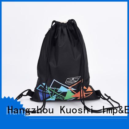 KUOSHI custom best drawstring backpack for gym