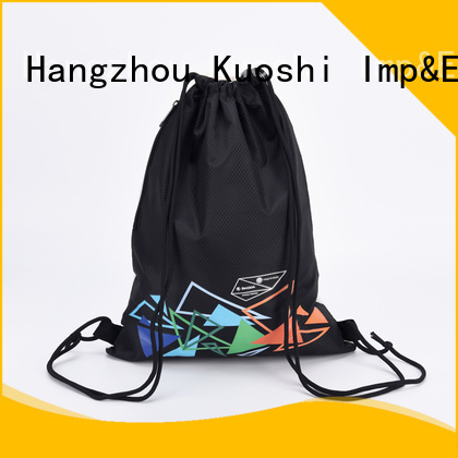 KUOSHI drawstring thick drawstring backpack factory for gym