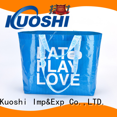KUOSHI laminated pp woven fabric for business for grocery shopping