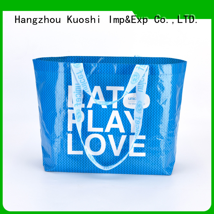 KUOSHI reusable pp woven bags price company for grocery shopping