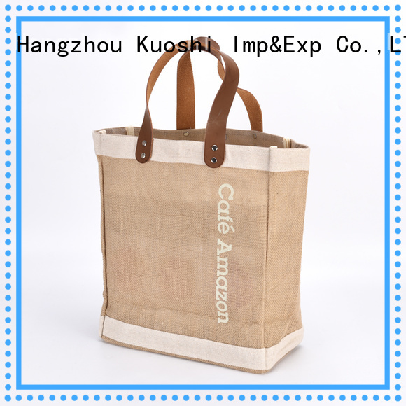 KUOSHI new jute bags bulk buy for business for restaurant